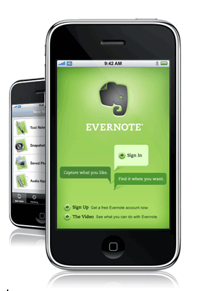 Evernote on the iPhone