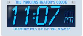 iGoogle Procrastinator Clock
