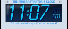 iGoogle Procrastinator Clock